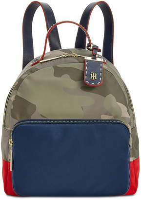 Tommy Hilfiger Julia Dome Camo Colorblock Backpack