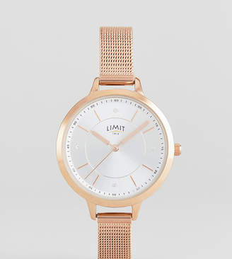 Limit Sunray Mesh Watch In Rose Gold Exclusive To ASOS