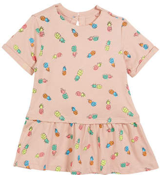 Stella McCartney Jess Pineapple-Print Short-Sleeve Dress, Size 12-24 Months