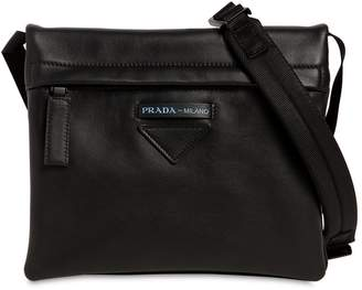 Prada Folding Leather Crossbody Bag