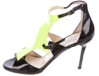 Jimmy Choo Patent Leather Cutout Sandals