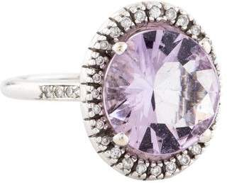 Mauboussin 18K Amethyst & Diamond Cocktail Ring