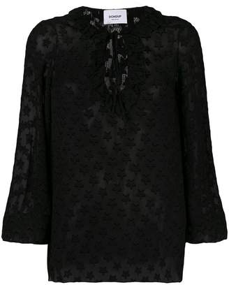 Dondup stars sheer blouse