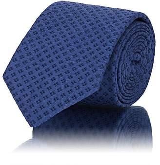 John Vizzone Men's Diamond-Pattern Silk Necktie