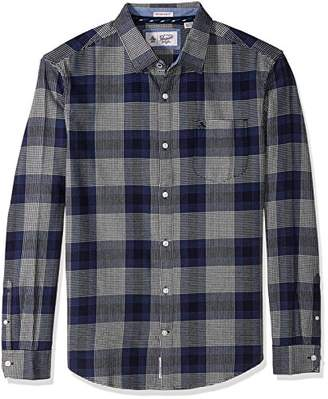 Original Penguin Men's Brushed Plaid Flannel Dress Shirt