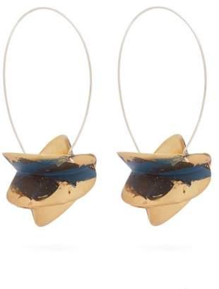Albus lumen Albus Lumen - X Ryan Storer Painted Drop Earrings - Womens - Blue