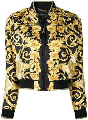Versace fitted bomber jacket