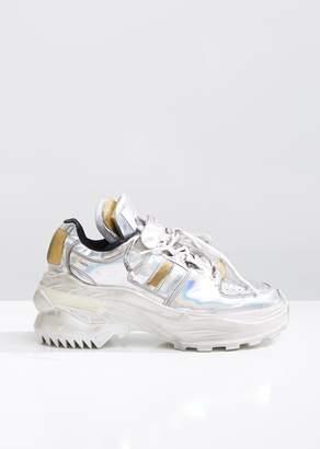 Maison Margiela Metallic Low Top Retro Fit Sneakers