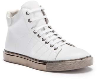 Badgley Mischka Crosby Leather High-Top Sneaker