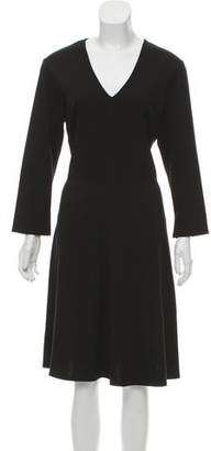 Josie Natori Long Sleeve Knee-Length Dress