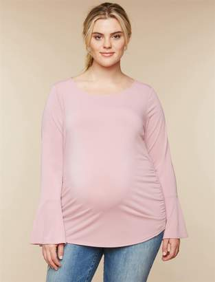 Motherhood Maternity Plus Size Side Ruched Maternity Top