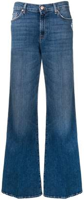 7 For All Mankind faded wide-leg jeans
