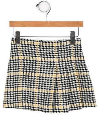 Il Gufo Girls' Houndstooth Skirt