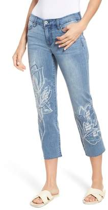 Liverpool Jeans Company LVPL by Liverpool Carter Floral Embroidery Crop Jeans