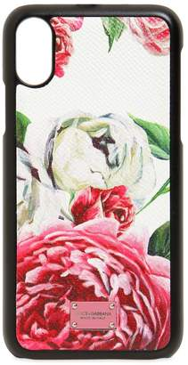 Dolce & Gabbana Floral Printed Leather Iphone X Case
