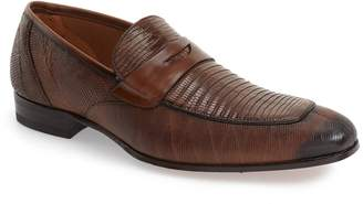Mezlan 'Lipari' Lizard Leather Penny Loafer