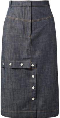 Tibi Jamie Denim Skirt - Dark denim