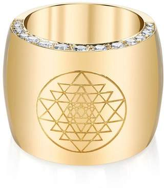 Ark Halo Diamond Ring - Yellow Gold
