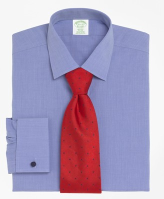 Brooks Brothers Milano Slim-Fit Dress Shirt, Non-Iron Spread Collar French Cuff