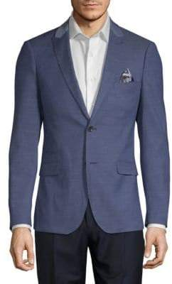 Two-Tone Chambray Jacket