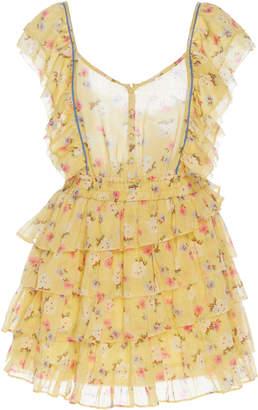 LoveShackFancy Phyllis Mini Ruffled Dress