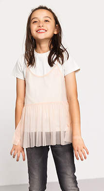 Esprit Mini girl tulle overlay t-shirt