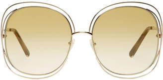 Chloé Gold Oversized Round Sunglasses