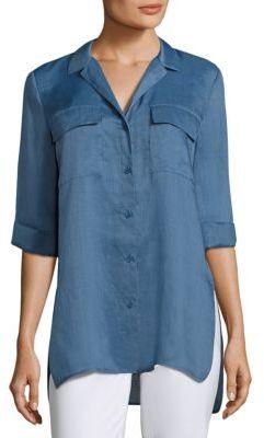 Lafayette 148 New York Fran Gemma Cloth Blouse $298 thestylecure.com