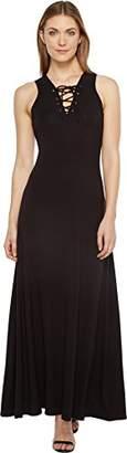 Karen Kane Women's Lace-up Maxi Dress