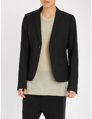 Rick Owens Cropped regular-fit wool jacket
