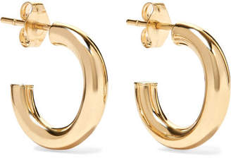 Loren Stewart Chubbie Huggies 10-karat Gold Hoop Earrings