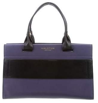 Halston Bicolor Leather Satchel
