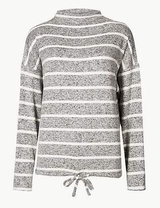 Marks and Spencer Striped Long Sleeve Pyjama Top