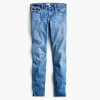 """J.Crew Tall 8"""" toothpick skinny jeans with side slits"""