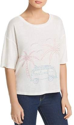 Honey Punch Embroidered Palm Tee