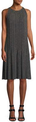 M Missoni Metallic Plisse A-Line Dress