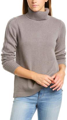 Forte Cashmere Forte Color Block Lacing Sweater