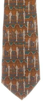 Salvatore Ferragamo Silk Statue Tie
