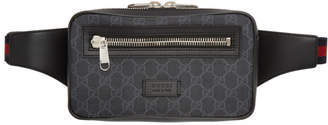 Gucci Grey and Black GG Supreme Belt Bag