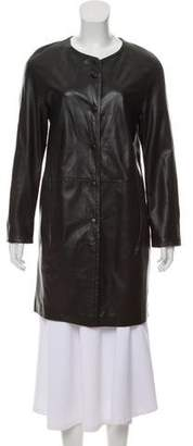 Gerard Darel Leather Long Sleeve Jacket