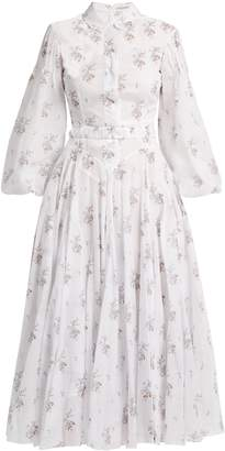 Emilia Wickstead Anel floral-print cotton-voile midi dress