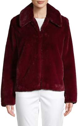 Saks Fifth Avenue Spread-Collar Faux Fur Jacket