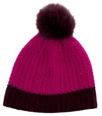 Sofia Cashmere Cashmere Fur-Trimmed Hat