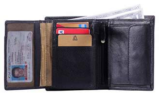Leather Architect -Men's Real Italian Leather Wallet with 12 Credit Card Slots and 1 coin Pocket and RFID blocking-