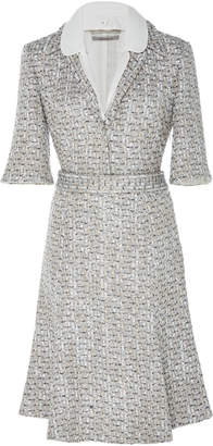 SOONIL Holiday Dress With Detachable Collar