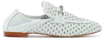 Daniel Ballena Beige Leather Woven Loafers