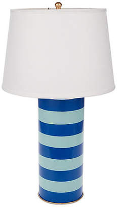 Dana Gibson Stacked Table Lamp - Turquoise
