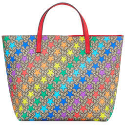 Gucci Kids' Rainbow Star GG Supreme Tote Bag