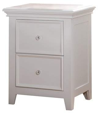 Acme Lacey Nightstand with 2 Drawers, White