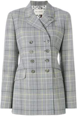 Etro double-breasted check jacket